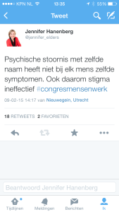 Congres Mensenwerk tweet